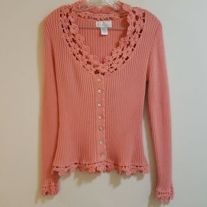 Soft Surroundings Sweater, Deep Peach, Sz M